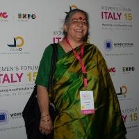 """Foto Nicoloro G.  29/06/2015   Milano   Nell' ambito di Expo 2015 un evento organizzato da We- Women for Expo dal titolo """" Nurturing a sustainable future """"'. nella foto Vandana Shiva, attivista e ambientalista indiana."""