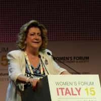 """Foto Nicoloro G.  29/06/2015   Milano   Nell' ambito di Expo 2015 un evento organizzato da We- Women for Expo dal titolo """" Nurturing a sustainable future """"'. nella foto Diana Bracco, presidente di Expo 2015."""