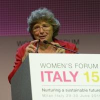 """Foto Nicoloro G.  29/06/2015   Milano   Nell' ambito di Expo 2015 un evento organizzato da We- Women for Expo dal titolo """" Nurturing a sustainable future """"'. nella foto Jacqueline Franjou, CEO di Women's Forum."""