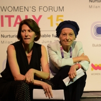 "Foto Nicoloro G. 29/06/2015 Milano Nell' ambito di Expo 2015 un evento organizzato da We- Women for Expo dal titolo "" Nurturing a sustainable future ""'. nella foto Claudia Parzani, presidente Valore D, e presidente onorario di Women for Expo."