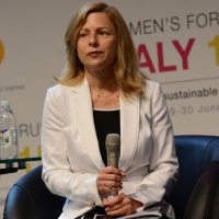 "Foto Nicoloro G.  29/06/2015   Milano   Nell' ambito di Expo 2015 un evento organizzato da We- Women for Expo dal titolo "" Nurturing a sustainable future ""'. nella foto Laura Safer Espinoza, direttrice Fair Food Standards Council."