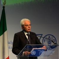 Foto Nicoloro G.   16/10/2015    Milano  In occasione della Giornata Mondiale dell' Alimentazione si e' svolto in Expo un incontro al quale hanno preso parte il Capo di Stato e il segretario generale delle Nazioni Unite. nella foto il Presidente Sergio Mattarella.