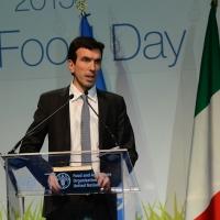 Foto Nicoloro G.   16/10/2015    Milano  In occasione della Giornata Mondiale dell' Alimentazione si e' svolto in Expo un incontro al quale hanno preso parte il Capo di Stato e il segretario generale delle Nazioni Unite. nella foto il ministro Maurizio Martina.
