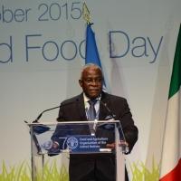 Foto Nicoloro G.   16/10/2015    Milano  In occasione della Giornata Mondiale dell' Alimentazione si e' svolto in Expo un incontro al quale hanno preso parte il Capo di Stato e il segretario generale delle Nazioni Unite. nella foto Kanayo F. Nwanze, presidente IFAD.