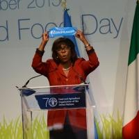 Foto Nicoloro G.   16/10/2015    Milano  In occasione della Giornata Mondiale dell' Alimentazione si e' svolto in Expo un incontro al quale hanno preso parte il Capo di Stato e il segretario generale delle Nazioni Unite. nella foto Ertharin Cousin, direttore esecutivo del Programma Alimentare Mondiale.