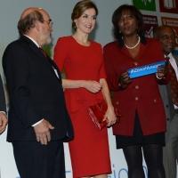 Foto Nicoloro G.   16/10/2015    Milano  In occasione della Giornata Mondiale dell' Alimentazione si e' svolto in Expo un incontro al quale hanno preso parte il Capo di Stato e il segretario generale delle Nazioni Unite. nella foto da sinistra Jose' G. Da Silva, la regina Letizia di Spagna e Ertharin Cousin.