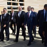 Foto Nicoloro G.  24/06/2015  Milano    Nell' ambito di Expo 2015 si è svolta la Giornata Nazionale della Slovacchia. nella foto al centro il presidente slovacco Andrey Kiska.