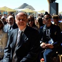 Foto Nicoloro G.  24/06/2015  Milano    Nell' ambito di Expo 2015 si è svolta la Giornata Nazionale della Slovacchia. nella foto il presidente slovacco Andrey Kiska e dietro il calciatore Marek Hamsik.