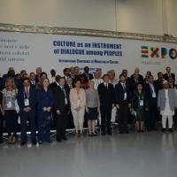 Foto Nicoloro G. 31/07/2015 Milano Nell' ambito di Expo 2015 si svolge la Conferenza Internazionale dei ministri della Cultura di più di 80 paesi presenti. nella foto il gruppo dei ministri.