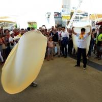 Foto Nicoloro G.  20/06/2015  Milano   Realizzata la pizza più lunga del mondo all' Expo 2015. nella foto un momento della molto applaudita esibizione di pizzaioli napoletani.