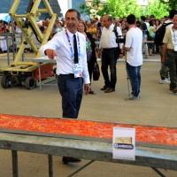 Foto Nicoloro G.  20/06/2015  Milano   Realizzata la pizza più lunga del mondo all' Expo 2015. nella foto il commissario unico di Expo Giuseppe Sala in attesa del verdetto del giudice.