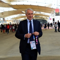 Foto Nicoloro G.   05/05/2015  Milano    Expo Milano 2015, l' Esposizione Internazionale che l'Italia ospiterà dal primo Maggio al 31 Ottobre 2015. nella foto il sindaco di Milano Giuliano Pisapia.