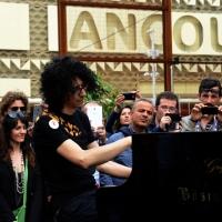 Foto Nicoloro G.   05/05/2015  Milano    Expo Milano 2015, l' Esposizione Internazionale che l'Italia ospiterà dal primo Maggio al 31 Ottobre 2015. nella foto il pianista Giovanni Allevi all' inaugurazione del Villaggio Save the Children.