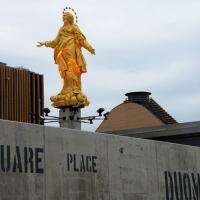 Foto Nicoloro G.   05/05/2015    Milano   Expo Milano 2015 si apre al mondo e si mette in mostra. nella foto la copia della Madonnina allestita dalla Veneranda Fabbrica del Duomo.
