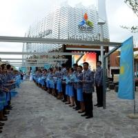 Foto Nicoloro G.   05/05/2015    Milano   Expo Milano 2015 si apre al mondo e si mette in mostra. nella foto davanti al padiglione del Kazakhstan.