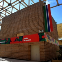 Foto Nicoloro G.   05/05/2015    Milano   Expo Milano 2015 si apre al mondo e si mette in mostra. nella foto il padiglione del Gambia.