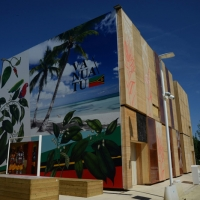 Foto Nicoloro G.   05/05/2015    Milano   Expo Milano 2015 si apre al mondo e si mette in mostra. nella foto il padiglione della Repubblica Vanuatu.