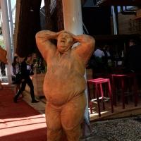 Foto Nicoloro G.   05/05/2015    Milano   Expo Milano 2015 si apre al mondo e si mette in mostra. nella foto una statua in legno davanti al Caffè Tirolese.