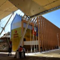 Foto Nicoloro G.   05/05/2015    Milano   Expo Milano 2015 si apre al mondo e si mette in mostra. nella foto il padiglione della Spagna.