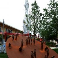 Foto Nicoloro G.   05/05/2015    Milano   Expo Milano 2015 si apre al mondo e si mette in mostra. nella foto una scultura.