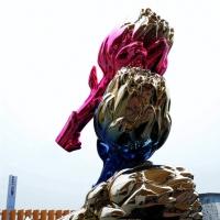 Foto Nicoloro G.   05/05/2015    Milano   Expo Milano 2015 si apre al mondo e si mette in mostra. nella foto una scultura all' ingresso del padiglione della Francia.