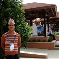 Foto Nicoloro G.   05/05/2015    Milano   Expo Milano 2015 si apre al mondo e si mette in mostra. nella foto un giovane addetto al padiglione del Nepal.