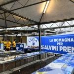 Foto Nicoloro G.   31/07/2020   Cervia ( Ra )  Prima serata della Festa della Lega Romagna. nella foto lo stand cucina.