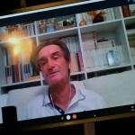Foto Nicoloro G.   31/07/2020   Cervia ( Ra )  Prima serata della Festa della Lega Romagna. nella foto in collegamento video il governatore della Lombardia Attilio Fontana, assente alla serata a causa di un leggero malore.