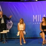 Foto Nicoloro G.   31/07/2020   Cervia ( Ra )  Prima serata della Festa della Lega Romagna. nella foto da sinistra il giornalista Mario Giordano, l' europarlamentare Silvia Sardone e la senatrice Lucia Bergonzoni.