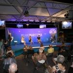 Foto Nicoloro G.   31/07/2020   Cervia ( Ra )  Prima serata della Festa della Lega Romagna. nella foto un momento della serata di interventi.