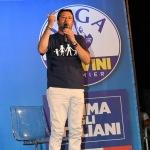 Foto Nicoloro G.   01/08/2020    Cervia ( RA ) Seconda serata della Festa della Lega Romagna che ha visto la presenza del leader del Carroccio. nella foto il segretario della Lega Matteo Salvini.