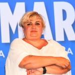 Foto Nicoloro G.   01/08/2020    Cervia ( RA ) Seconda serata della Festa della Lega Romagna che ha visto la presenza del leader del Carroccio. nella foto Donatella Prampolini, vicepresidente Confcommercio.