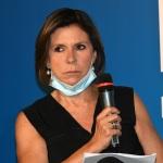 Foto Nicoloro G.   04/08/2020  Cervia ( RA )   Ultima giornata della Festa della Lega Romagna. nella foto la giornalista Bianca Berlinguer.