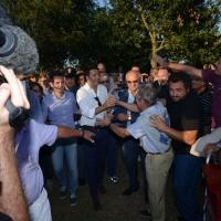 Foto Nicoloro G. 30/08/2013 Borgo Sisa ( Ravenna ) Festa del PD con l' intervento del sindaco di Firenze Matteo Renzi. nella foto Matteo Renzi al suo arrivo