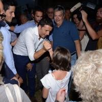 Foto Nicoloro G. 30/08/2013 Borgo Sisa ( Ravenna ) Festa del PD con l' intervento del sindaco di Firenze Matteo Renzi. nella foto Matteo Renzi in partenza