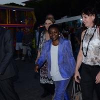 """Foto Nicoloro G. 26/07/2013 Cervia ( Ravenna ) Nell' ambito della Festa del PD di Cervia serata di dibattito sul tema """" Il contributo degli immigrati all' economia italiana """" alla presenza del ministro dell' Integrazione Cecilie Kyenge. nella foto Cecilie Kyenge"""