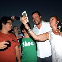 Foto Nicoloro G.  25/07/2015  Cervia ( Ravenna )  Festa Nazionale della Lega Nord Romagna. nella foto Matteo Salvini si presta agli ormai usuali selfie.