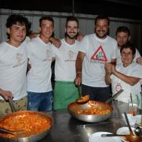Foto Nicoloro G.  25/07/2015  Cervia ( Ravenna )  Festa Nazionale della Lega Nord Romagna. nella foto Matteo Salvini tra gli addetti alla cucina.