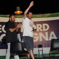 Foto Nicoloro G.  25/07/2015  Cervia ( Ravenna )  Festa Nazionale della Lega Nord Romagna. nella foto  Matteo Salvini con il segretario della Lega Nord Romagna Gianluca Pini.