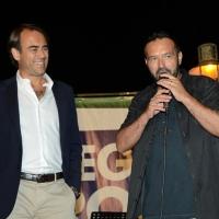 Foto Nicoloro G.  25/07/2015  Cervia ( Ravenna )  Festa Nazionale della Lega Nord Romagna. nella foto il direttore del Resto del Carlino Andrea Cangini, a sinistra, e il deputato leghista Gianluca Pini.