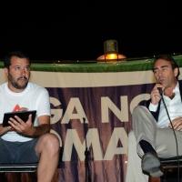 Foto Nicoloro G.  25/07/2015  Cervia ( Ravenna )  Festa Nazionale della Lega Nord Romagna. nella foto Matteo Salvini con Andrea Cangini, direttore del Resto del Carlino.