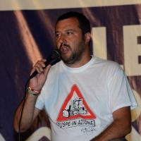 Foto Nicoloro G.  25/07/2015  Cervia ( Ravenna )  Festa Nazionale della Lega Nord Romagna. nella foto il leader della Lega Nord Matteo Salvini.