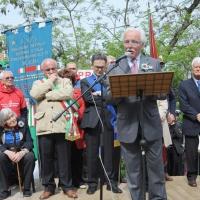 """Foto Nicoloro G. 25/04/2011 Marzabotto (BO) Per il 25 Aprile """" Festa della Liberazione """" cerimonia di commemorazione delle vittime della strage nazifascista di Marzabotto. nella foto Valter Cardi"""