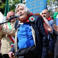 """Foto Nicoloro G. 25/04/2011 Marzabotto (BO) Per il 25 Aprile """" Festa della Liberazione """" cerimonia di commemorazione delle vittime della strage nazifascista di Marzabotto. nella foto Margherita Hack"""