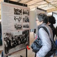 """Foto Nicoloro G. 25/04/2011 Marzabotto (BO) Per il 25 Aprile """" Festa della Liberazione """" cerimonia di commemorazione delle vittime della strage nazifascista di Marzabotto. nella foto Mostra sulla strage e sulla lotta partigiana"""