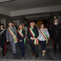 Foto Nicoloro G. 25/04/2013 Marzabotto ( Bologna ) Celebrazione della Festa della Liberazione in questo paese che durante la Seconda guerra mondiale subì una strage perpetrata dai nazisti. nella foto Le autorità all'interno del sacrario