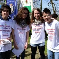 Foto Nicoloro G. 25/04/2013 Marzabotto ( Bologna ) Celebrazione della Festa della Liberazione in questo paese che durante la Seconda guerra mondiale subì una strage perpetrata dai nazisti. nella foto Un gruppo di studenti