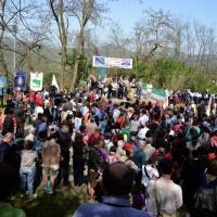 Foto Nicoloro G. 25/04/2013 Marzabotto ( Bologna ) Celebrazione della Festa della Liberazione in questo paese che durante la Seconda guerra mondiale subì una strage perpetrata dai nazisti. nella foto La folla durante la cerimonia