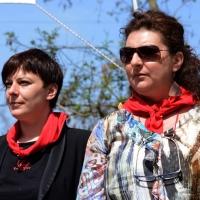 Foto Nicoloro G. 25/04/2013 Marzabotto ( Bologna ) Celebrazione della Festa della Liberazione in questo paese che durante la Seconda guerra mondiale subì una strage perpetrata dai nazisti. nella foto Cecilia Strada – Patrizia Moretti