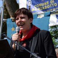 Foto Nicoloro G. 25/04/2013 Marzabotto ( Bologna ) Celebrazione della Festa della Liberazione in questo paese che durante la Seconda guerra mondiale subì una strage perpetrata dai nazisti. nella foto Cecilia Strada